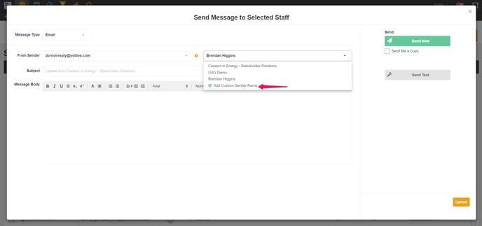 custom sender