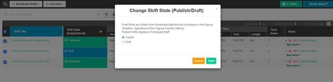 shift state change bulk