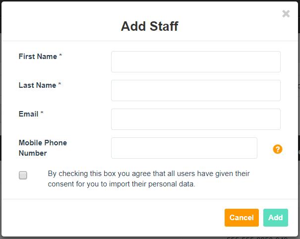 Add Staff