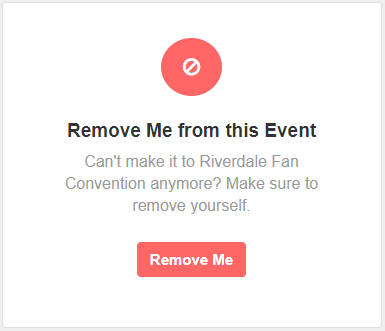 Remove from Event