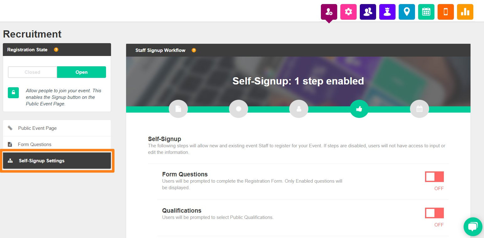 availability self signup